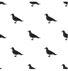 seagull icon in black style isolated on white vector image vector image