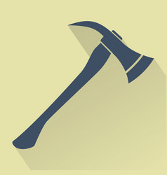 silhouette of firefighters axe vector image vector image