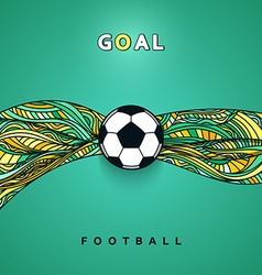 Soccer ball banner with background Football ball vector image