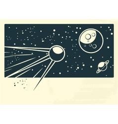 spaceship vector image