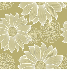 Striped Flowers Pattern vector image vector image