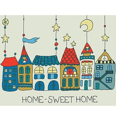 Sweet home background vector