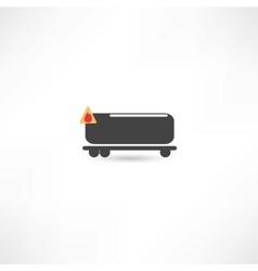 tank car icon vector image vector image