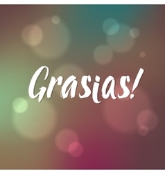 Thank You Spanish Hand lettering handmade vector image vector image