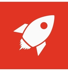 The rocket icon Launch and speed symbol Flat vector image