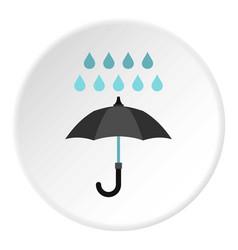 Umbrella and rain icon circle vector