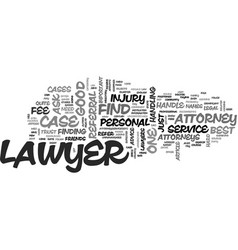 where to find the best lawyers text word cloud vector image vector image