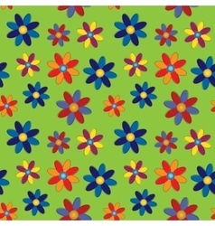 Seamless - colored flowers vector