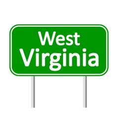 West virginia green road sign vector