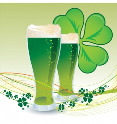 St Patrick's day green beers vector image