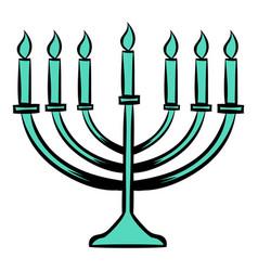 menorah icon cartoon vector image