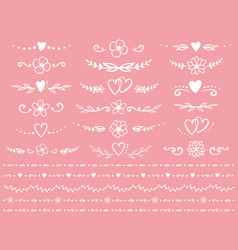 romantic dividers set vector image