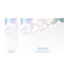 Abstract bokeh vision bright fantasy design vector