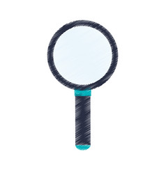 Magnifying glass icon image vector