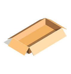 Empty container carton store package delivery vector