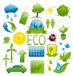 Set of green ecology icons 2 vector