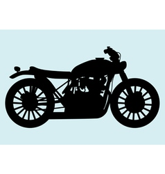 Classic motorcycle vector