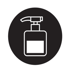 Pump bottle icon vector