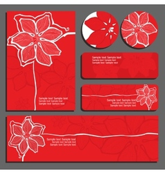 red invitations and flyers vector image