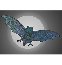 Ornamental bat vector