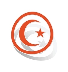 Turkey symbol sign sticker orange vector