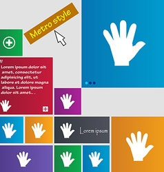 Hand icon sign buttons modern interface website vector