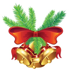 Golden Christmas Bell7 vector image