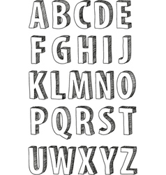 sketch alphabet vector image
