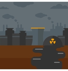 Background of nuclear power plant vector