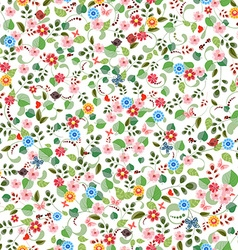 pretty seamless texture with tiny flowers vector image