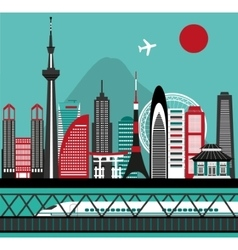 Asian city vector image