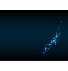 Abstract blue background with line and light vector image