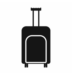 Travel suitcase icon simple style vector image