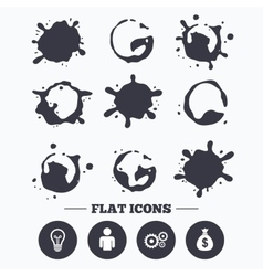 Business signs human and lamp bulb idea icons vector