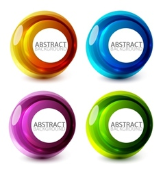 abstract swirl set vector image