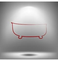 Bath icon bath vector