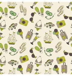 Beach holiday seamless pattern vector image