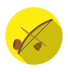 Berimbau icon in flat style isolated on white vector