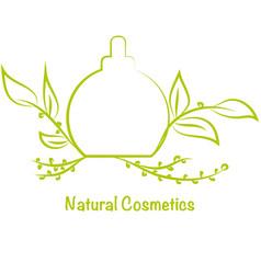 Bottle for perfumecosmetics template logo vector