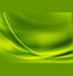 Bright abstract green smooth waves background vector