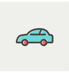 Car thin line icon vector