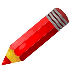Cartoon red pencil eps10 vector image vector image