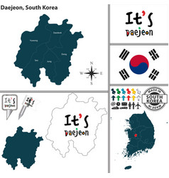 daejeon metropolitan city south korea vector image