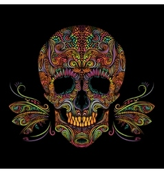 Decorative color skull vector