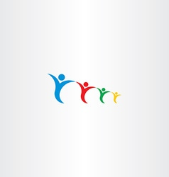 family holding hand logo sign vector image vector image