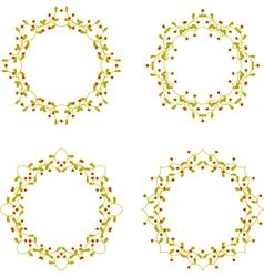 Floral branch frames vector