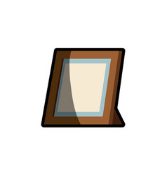 frame photo wooden shadow vector image