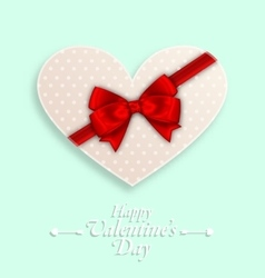 Greeting Background with Wishes for Valentines Day vector image