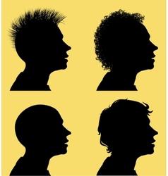 Hair style silhouettes vector