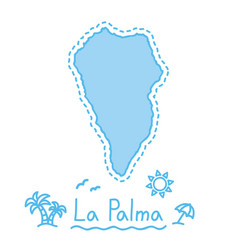 La palma island map isolated cartography concept vector
